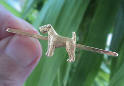 Vintage 18ct Gold Dog Brooch - Airedale Terrier c.191020s  John Grinsell