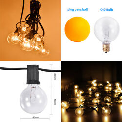 G40 Bulb Filament Outdoor Patio Globe String Lights (100' 50' and 25' Lengths)