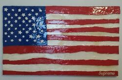 Supreme Box Logo American Flag Art 1995 Acrylic Painting