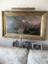 Antique Oil Paining From Thomson-dougherty Funeral Home Minneapolis Mn.