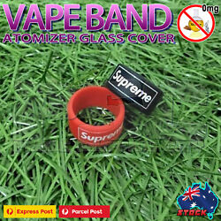 Suprem3 Vape Band drip tip Cover Designer Silicone Protection Ring 810 510 Smok3
