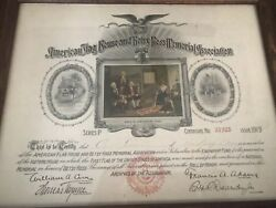 American Flag House And Betsy Ross Memorial Association Certificate - 1919