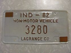 1982 Indiana Amish Buggy License Plate Free Shipping See My Other Plates
