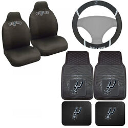 7pc Set Nba San Antonio Spurs Seat Covers Floor Mats And Steering Wheel Cover ....