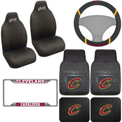 8pc Set Nba Cleveland Cavaliers Seat Covers Floor Mats And Steering Wheel Cover ..
