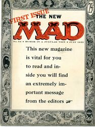 Mad  24  Fvf  First Issue The New Mad  July 1955 Humor In A Jugular Vein
