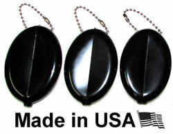 3 Oval Squeeze Coin Purses  Change Money Holder  Great for Travel Made in USA