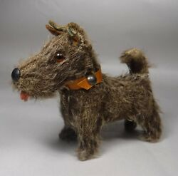 Fripon Terrier Dog  Wood Body Companion to Bleuette Doll Wire Hair Glass Eyes