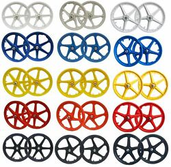 20 Bmx Mag Wheelset 5 Or 6 Spoke Freestyle Bike Colour Wheels Front And Rear