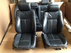 BMW OEM E39 525 528 530 540 SET SEAT FRONT REAR SEAT LEATHER BLACK 1997-2003