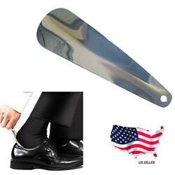 US Ship 7 Inches Stainless Steel Professional Metal Shoe Horn Double Sided Spoon