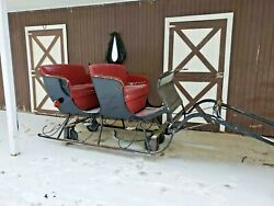 HORSE DRAWN SLEIGH ONE HORSE OPEN SLEIGH 4 PERSON WITH RUNNERS AND WHEELS