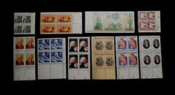 COLLECTION OF 63 DIFFERENT MNH PLATE BLOCKS  20¢ ERA  BELOW FACE VALUE