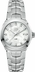 Tag Heuer Link Mother of Pearl Dial Ladies Watch WBC1312.BA0600