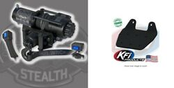 Kfi 3500 Lb Stealth Synthetic Cable Winch And Mount Kit Yamaha Grizzly 660 02-08