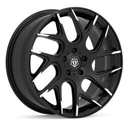 (4) 20x8.5 Black TIS 542 542MBT 5x4.5 35 Nitto Ridge Grappler 265x60R20 Rims Ti