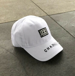 Embroidery Brim CXC Rubber Patch Baseball Cap Adjustable Strapback White Unisex