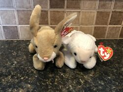 🐰 Ty Beanie Babies Nibbly And Fleece Great For Easter