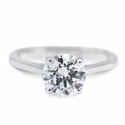 5.03 Carat Round shape F - SI2 Solitaire Diamond GIA Engagement Ring custom size