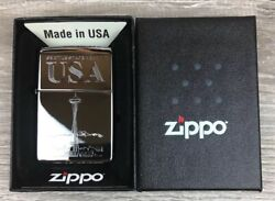 Zippo Seattle Space Needle Lighter Etched