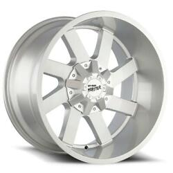 22 Inch 22x12 Offroad Monster M80 Silver Brushed Wheel Rim Blank -44
