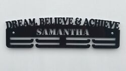 Personalised Thick Acrylic 2tier 5mm Dream Believe Achieve Medal Hanger / Rack