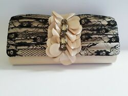 Black And Gold Clutch Evening Bag