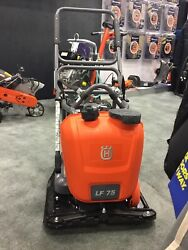 New Husqvarna Lf75-lat 17in Plate Asphalt And Soil Compactor With Honda Engine