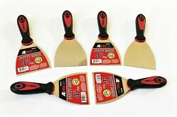 6 Ate Pro 4 Flexible Stainless Steel Putty Knife Knives Scrapers Drywall 93533