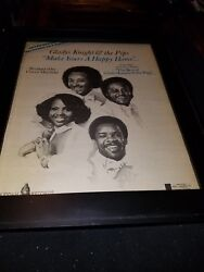 Gladys Knight And The Pips Make Yours A Happy Home Rare Promo Poster Ad Framed