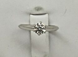 And Co. 0.50 Ctw Diamond Platinum Solitaire Ring Size 4 Andfrac34
