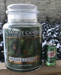 Yankee Candle 13lb King Size Balsam Cedar 2013 Limited Edition Collectors Easter