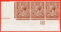 Sg. 362. N18 1. 1andfrac12d Red - Brown. A Very Fine Mounted Mint Control Stri B38676
