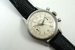 Wittnauer 3256 Chronograph Original 3-color Dial Stianless Steel Dates 1960and039s