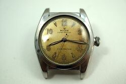Rolex 5050 Bubbleback Stainless Steel Automatic Dates 1950 Rare Dial Buy It Now