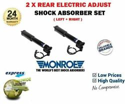 For Volvo 31277051 31302914 New 2x Rear Axle Electric Adjust Shock Absorber Set