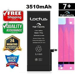 3510mah Replacement Battery For Iphone 7 Plus And Adhesive Tape 2 Year Warranty