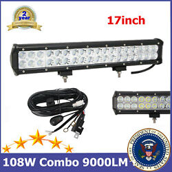 17'' 108w Led Work Light Bar Combo Offroad 4x4 Ranger Sienna Boat With Kit 15/18