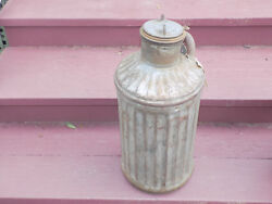 Socony Mobil Oil Cast Metal Oil Can With Tag