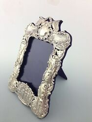 Late Victorian Boer War Solid Silver Photo Frame