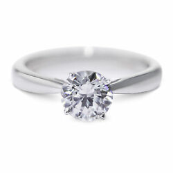 Gia Certified 0.5 Carat Round Cut F - Si2 Solitaire Diamond Engagement Ring