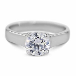 0.7 Carat Round Shape I - Si2 Solitaire Diamond Gia Engagement Ring Sizeable
