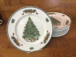 11 Johnson Brothers Victorian Christmas 10 1/4andrdquo Dinner Plates England Excellent