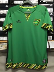 Romai Jamaica Classic Soccer Jersey Green Black Yellow Size Small Only