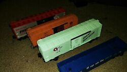 Miscellaneous Lionel Box Cars And One Gondola- G.n.9401, X2454, 29918, 9136