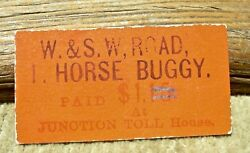 1890and039s Lewiston Weaverville Ca Rare Junction Toll House Horse Buggy Scrip Token