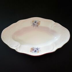 Rosenthal Belvedere Relish Plate Sanssouci Classic Rose Blue Willi Geck Germany