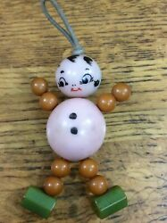 Adorable 1950s Celluloid And Bakelite Rattle Little Doll Figurine