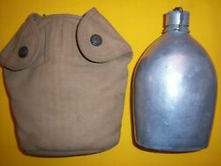 Rare 1913 Usmc Ea Snap Canteen Cover Mint Unissued And M1910 Canteen Nmint 2
