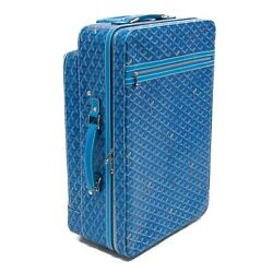 GOYARD - ROLLING LUGGAGE - TROLLEY PM - SUITCASE - TRUNK - ELECTRIC BLUE - RARE